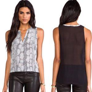 Joie Corette snakeskin print blouse.          B091